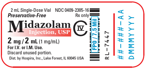PRINCIPAL DISPLAY PANEL - 2 mL Vial Label