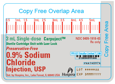 PRINCIPAL DISPLAY PANEL - 3 mL Cartridge Label